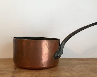 French Vintage Copper Saucepan
