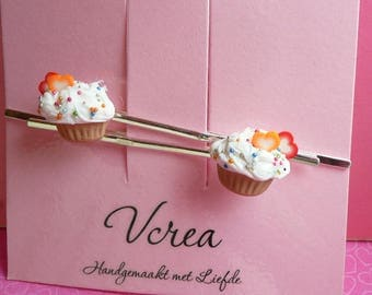 Scented Cupcake Hair Pins
