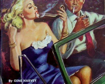 pulp art print Thrill Girl (2)—  vintage pulp paperback cover repro