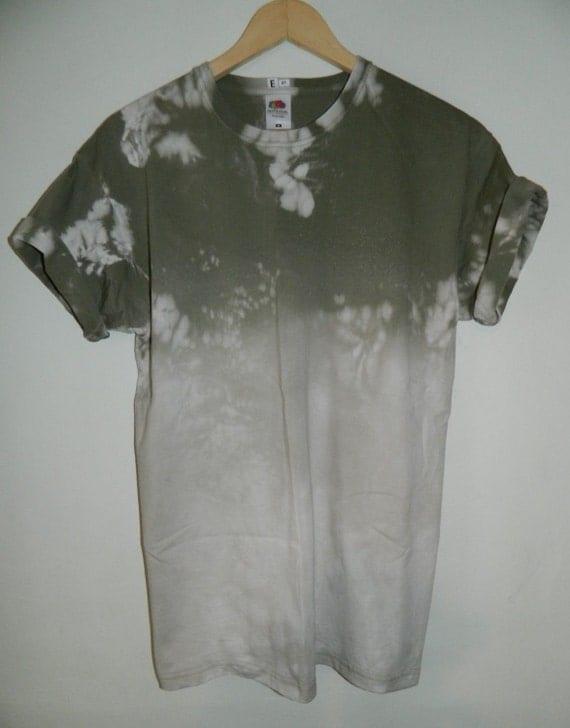 Unique tie dye t shirt acid wash t shirt hipster festival for Custom acid wash t shirts