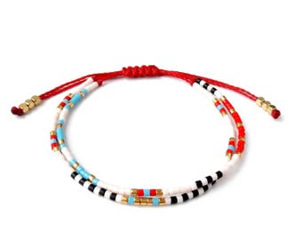 Beaded layering bracelet boho jewelry boho bracelet tribal bracelet stackable bracelet gifts for her friendship bracelet wrap bracelet