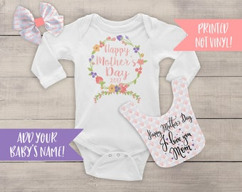 First Mothers Day Outfit - Mothers Day Gift - 1st Mothers Day Shirt - Mothers Day Outfit - Mothers Day Baby Girl Outfit - Baby Girl -