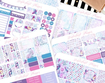 Watercolour Mermaid Kit - Sea Life Themed Planner Sticker Kit // 180+ Stickers // Perfect for Erin Condren Vertical Life Planner