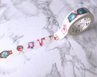 Fashion & Beauty Washi Tape // Decorative Paper Masking Drafter Planner Scrapbooking Tape