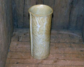 Pottery Vase Hand Thrown , Textured, soft earthtones Large  - 1073