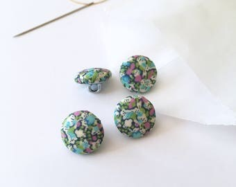 """1/2"""" Fabric Covered Buttons {Set of 4}, Handmade Fabric Buttons, Liberty Buttons, Small Buttons, Cover Buttons, Liberty of London, Floral"""