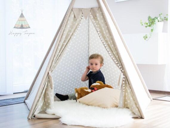 tipi toile beige enfants tipi tipi pour enfants tente tipi. Black Bedroom Furniture Sets. Home Design Ideas