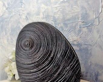 Concrete vase, cement vase, black concrete vase