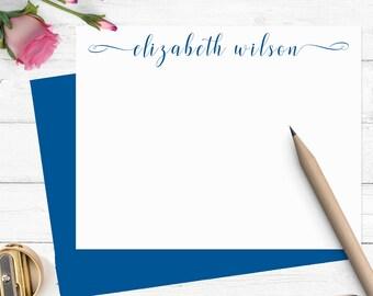 Personalized stationary set ,modern calligraphy stationery,personalized notecards, stationery set,custom stationery CS004