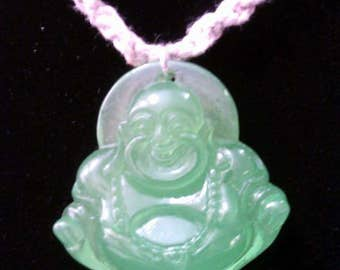 Lucite Buddha on Hemp Cord