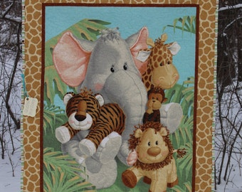 Baby Quilt, Gender Neutral Quilt, Safari Quilt