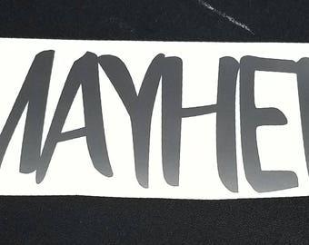 Mayhem car decal