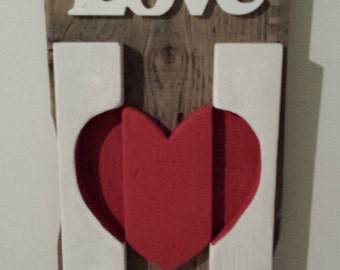 Ruatic Valentine's Day Love Wall Hanging