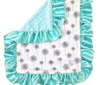 Mint Dandelion Security Blanket Gray Mint Tiffany