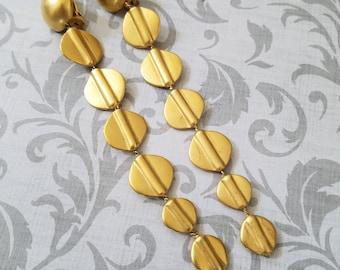Shoulder Dusters! Extra Long Gold earrings , Art Deco Modern Vintage Statement Earrings - Long Earrings Gift For Her