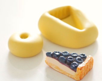 Silicone mold tart blueberries 1, 4 cm/2, 2cm for creating polymer clay, resin, airclay, set of 2