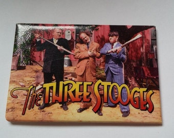 Three Stooges Comedy Fridge Magnet Larry Curly Moe Comedy Humor Funny Guys Old Time Schtick