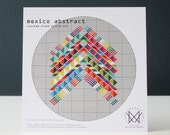 Mexico Abstract - Modern Counted Cross Stitch Kit - Easy DIY Cross Stitch Kit