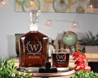 Engraved Whiskey Decanter, Groomsmen Decanter, Engraved Groomsmen Whiskey Decanter, Engraved Decanter, Custom Decanter, Groomsmen Gift Idea