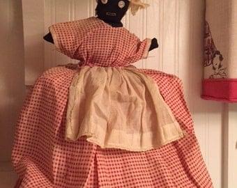 1920s Toaster Cover Primitive Black Mammy Flour Sack Doll