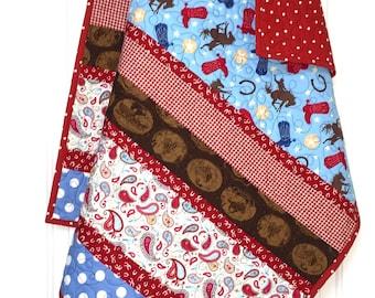 Western Baby boy Quilt, Cowboy Baby Quilt,  baby boy quilt, western baby bedding, cowboy quilt, western baby blanket, baby quilt handmade