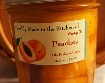 Peaches (Pint)             -          2 Jar Minimum Order