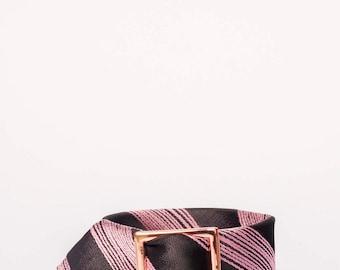 Dark Chocolate & Rose Tie Bracelet