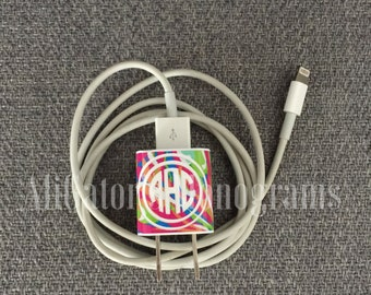 Lilly Pulitzer Vinyl-iPhone Charger Wrap-Monogram iPhone Decal