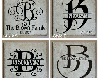 Personalized Initial Ceramic Tile