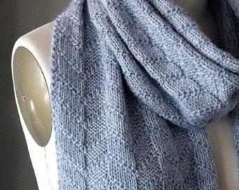 knitting pattern, knit scarf pattern, knit pattern, scarf pattern, knit scarf pattern, textured scarf, instant download pdf