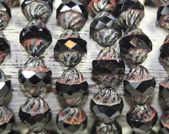 Czech Glass Beads, 11x10mm Turbine Shape, 15 Beads