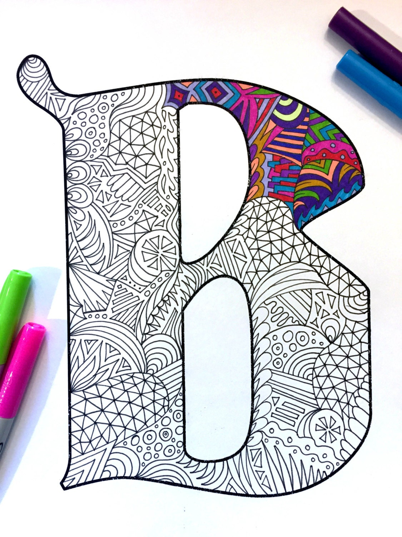 Letter B Zentangle Inspired By The Font Deutsch