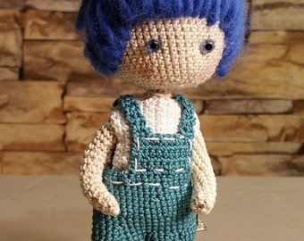 Amigurumi crocheted doll - Amigurumi doll - crochet doll amigurumi - crochet amigurumi- Crochet Gift