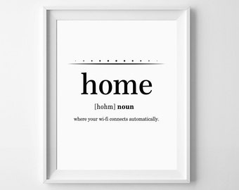 Funny art print etsy for Minimalist house definition