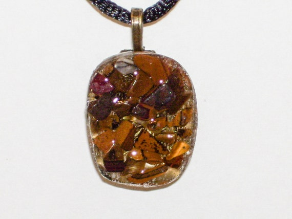 orgone pendant orgone necklace tigers eye pendant tigers