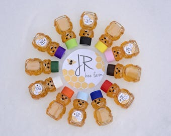 2oz Mini Honey Bear, Wedding Favor, Baby Shower Favors, Baby Reveal Ideas, Gifts
