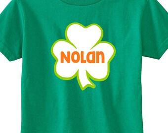 Personalized Shamrock Shirt // Toddler / Child / Irish / St Patricks Day