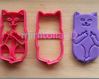 Naughty Cat Cookie Cutter