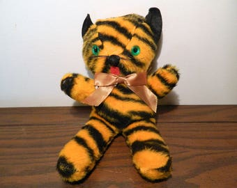 Vintage Tiger Stuffed Animal Kids Toy