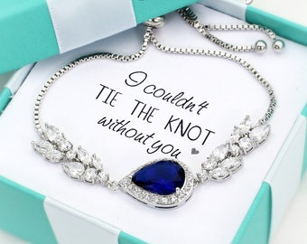 Wedding Bracelet Navy Zirconia Bracelet Wedding Bracelet blue Bracelet Wedding Jewelry Bridal Bracelet Something blue Bridesmaid Gift Ash