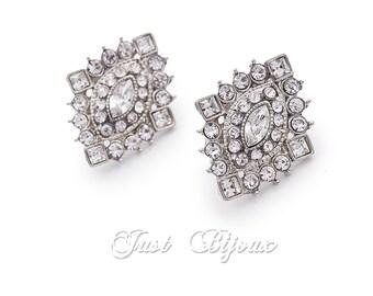 Wedding Earrings Swarovski Crystal Rhinestones Earrings Wedding Jewelry Bridal Earrings Bridesmaid Earrings Wedding Accessory rhombus