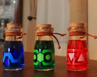 Potion bottles, the Legend of Zelda