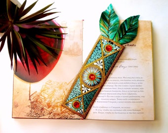 Unique Leather Bookmark Leather Teachers Gift Lovers reading 3 colors Book Accessories Literary Bookmarks feathers bookmarks cute bookmarks