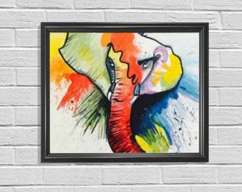Elephant Painting, Elephant Art, Home Decor, Animal Decor, Nursery Painting, Baby Boy Nursery, Nursery Decor, Zoo Painting, Safari painting