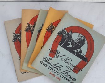 1944 Booklet Set, Prof. Beery's Saddle Horse Instructions