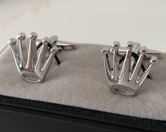 King Crown CuffLinks - Ideal gift or Wedding Best Man Present