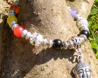 SALE Chakra Bracelet, Stretch Bracelet, Reiki Bracelet, Buddha Bracelet, Chakra Jewelry, Crystal Bracelet, Gemstone Bracelet