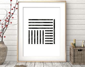 Minimalist Black and White Wall Print, Affiche scandinavia, Digital Print, Nordic Design, Scandinavian Design, Monochrome Art, Art Prints