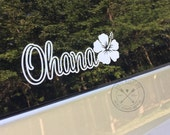 Ohana Hibiscus Flower Family Decal Sticker