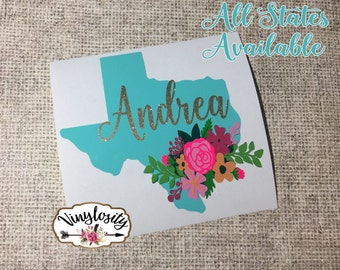 Texas Decal Etsy - Custom car decals houston   how to personalize